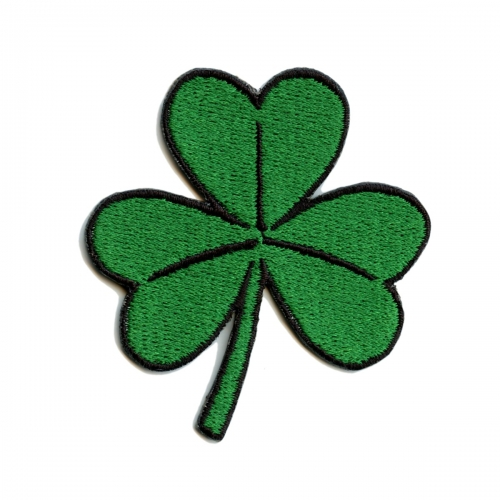Green 3 Leaf Clover St. Patrick's Day Iron On Patch
