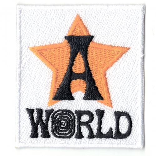 AstroWorld Orange Star Box Streetwear Embroidered Logo Iron On Patch