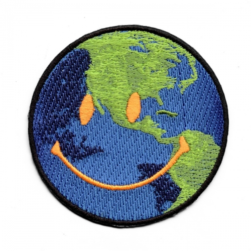 Astroworld Happy Face World Emoji Iron On Patch