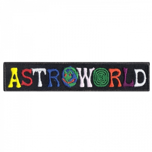 Astroworld Box Logo Streetwear Embroidered Iron On Patch