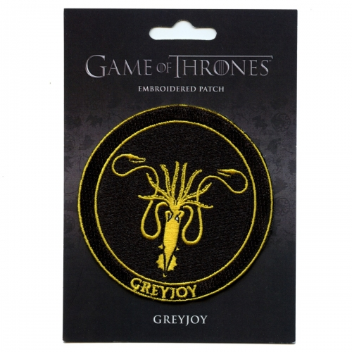 Official Game Of Thrones House GreyJoy HBO Embroidered Patch