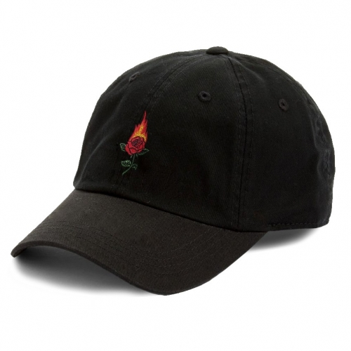 Rose on Fire Embroidered Hat