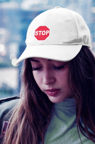 Stop Sign Embroidered Hat